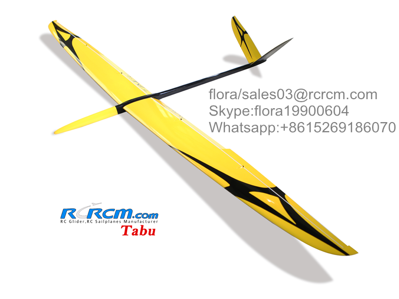 Tabu 3m rc composite glider of rcrcm