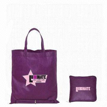 Purple foldable bag