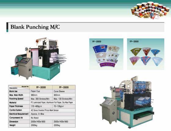 Paper punching(Die cut) machine