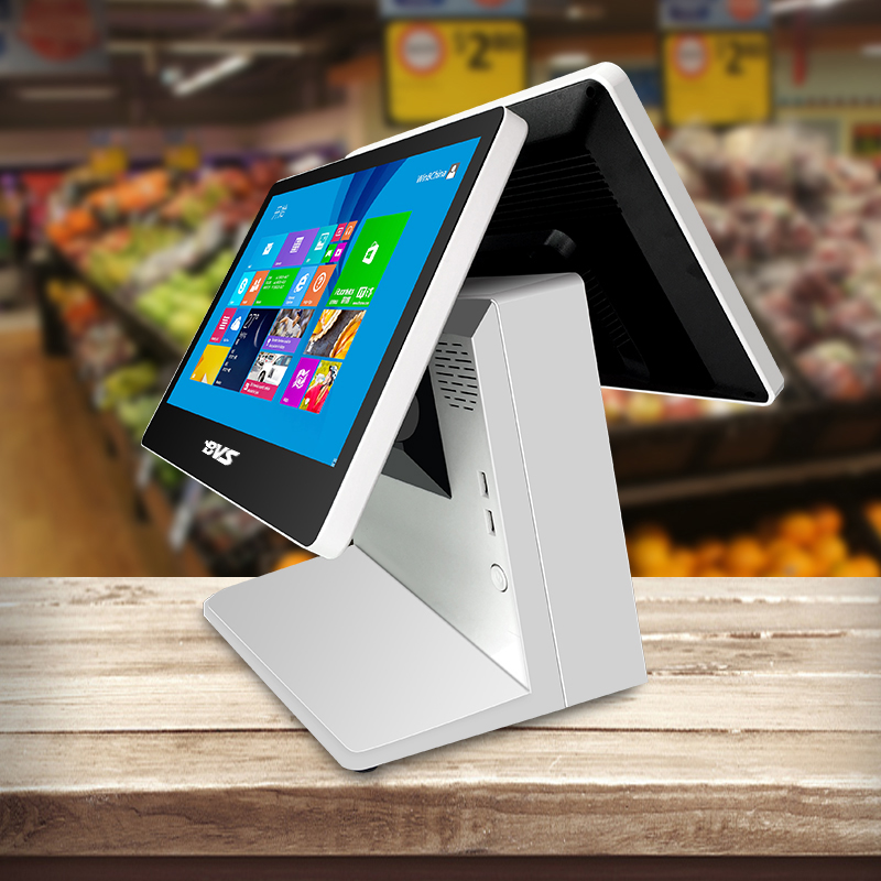 15.6 inch dual touch screen pos machine