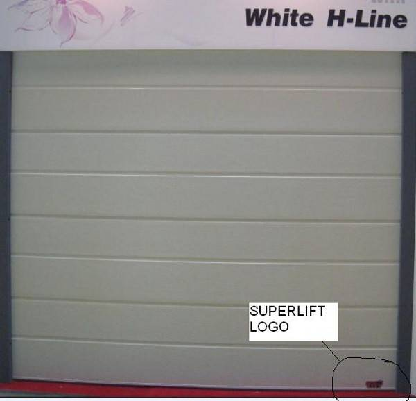 CE passed sectional automatic opening garage door