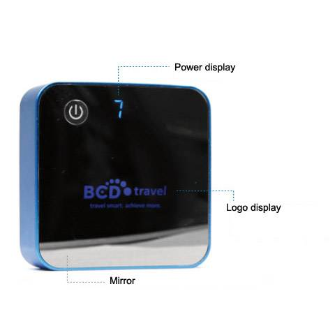 7800mAh Cube Power Bank Mobible Charger With LED Screen Customized Logo