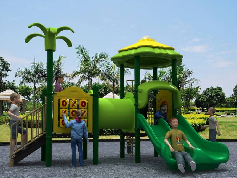 WD-FR193 Playground Equipment Outdoor Double Slide Forest Series, GS certificated