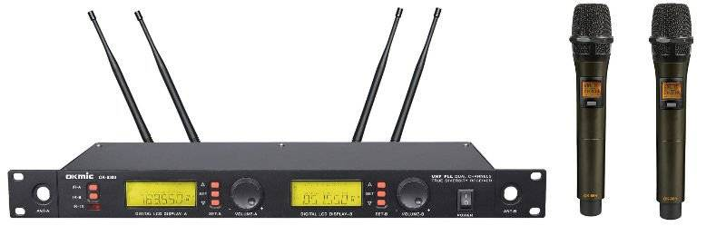 OKMIC OK-9300 Dual Channels Wirless Microphone Ture Diversity