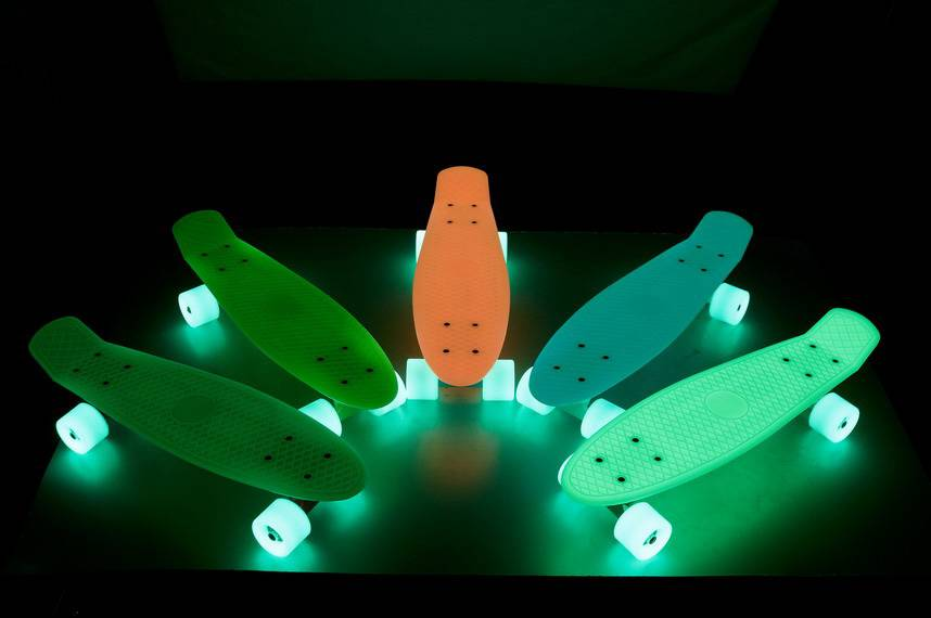 Luminous skateboard