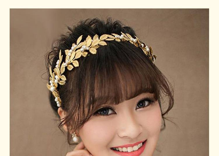 2015 Hand made new design hairband gold leaves women hair accessories