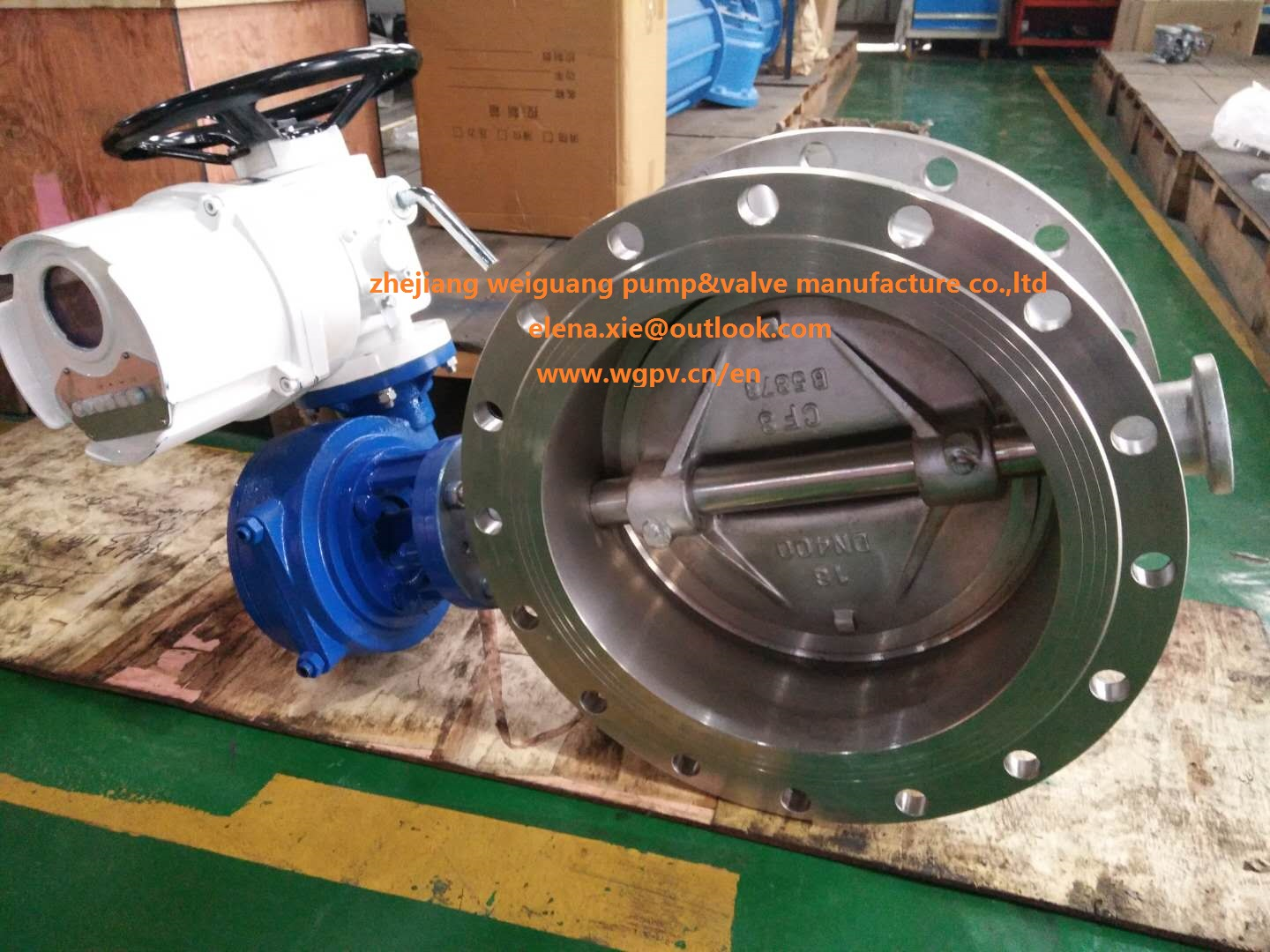 motorized butterfly valve CF8 material ,316 D943H-16P