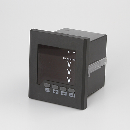 CE approved 3P3W, 3P4W LED smart digital programmable voltage meter with terminal block