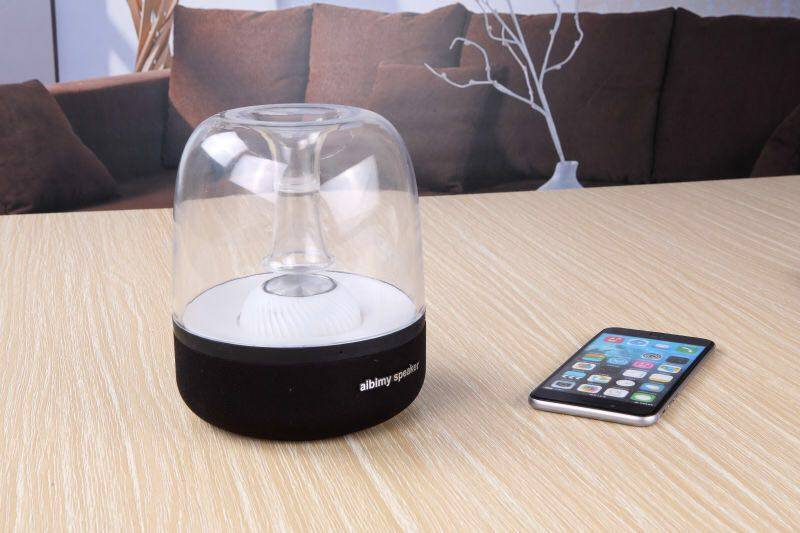 Color LED light bluetooth speaker with power bank
