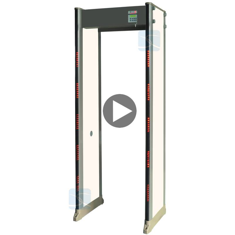 33 zones 299 sensitivity adjustable Protable Walk through metal detector