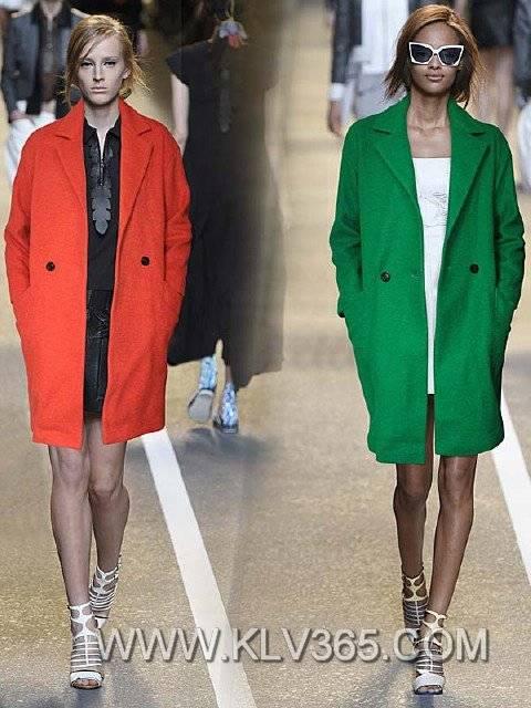 Women Fashion Long Wool Winter Jacket Wholesale
