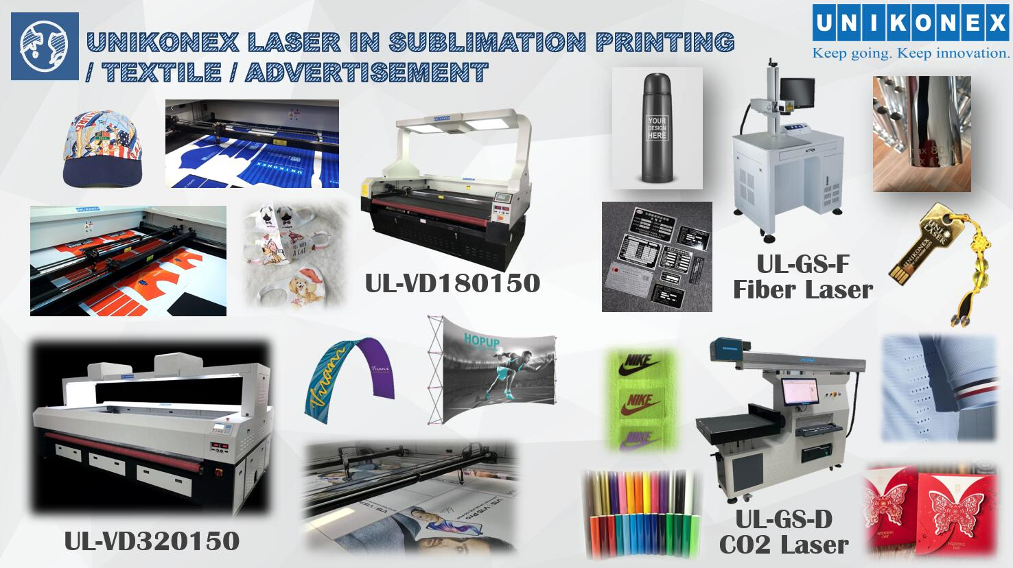 Use Laser Widely in Sublimation Printing, Textile and Metal Fields