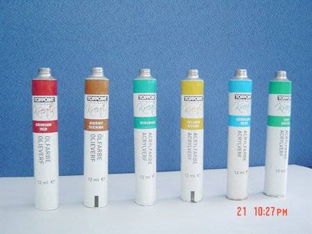 aluminum tube for water color use