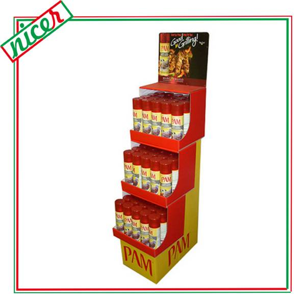 Economic Corrugated Self Ready Booth Display for tins
