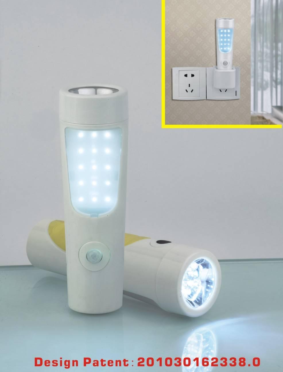 High Bright Plastic LED Energy Saving Rechargeable Emergency sensor light