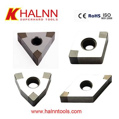 BN-K20 solid cbn insert for finish machining brake disc together with BN-S200 for roughing