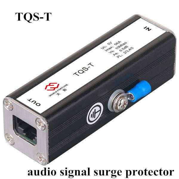 Audio signal surge protector