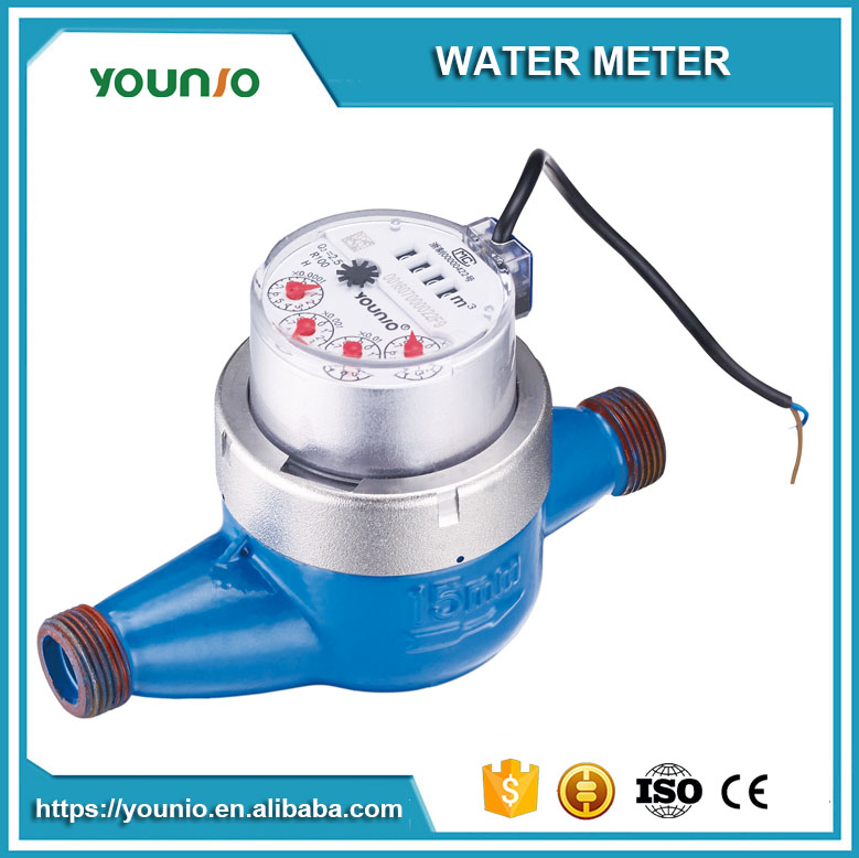 Younio High Quality Digital Smart Water Counter Meter With Pulse Output