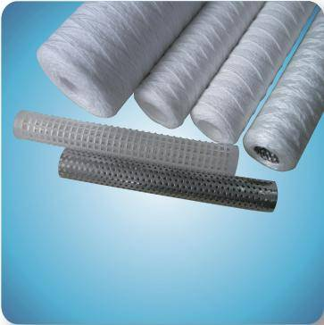 Different length and port size PP/cotton string wound filter cartridge with PP/ stainless steel core