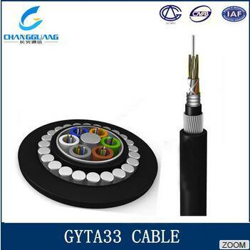 Factory supply low cost high quality Optical fiber Cable GYTA33