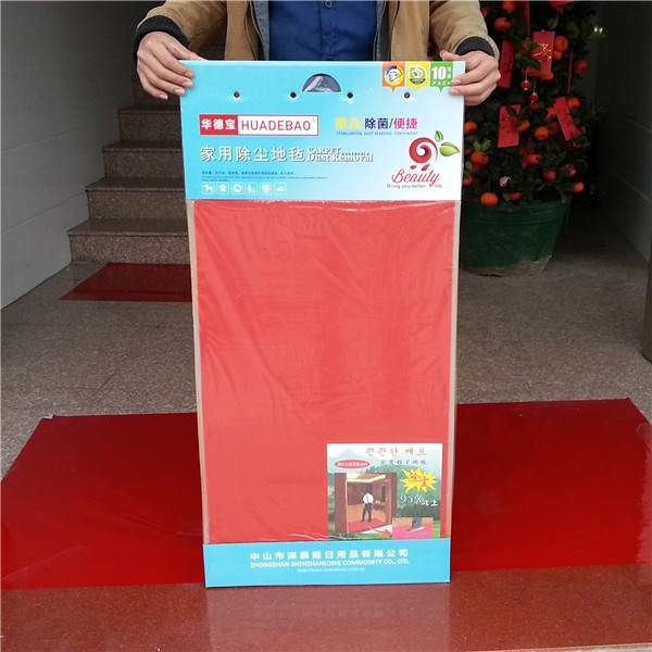 sticky mat made of adhesive PE film for home use