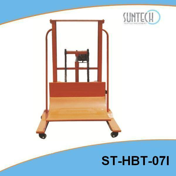 Hydraulic Cloth Roll Doffing/Dosing Trolley(for fabric inspection machine) ST-HBT-07I