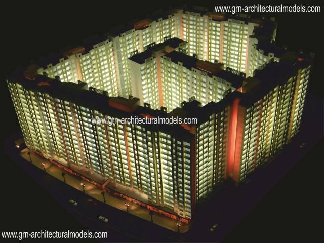 architectural model and rendering
