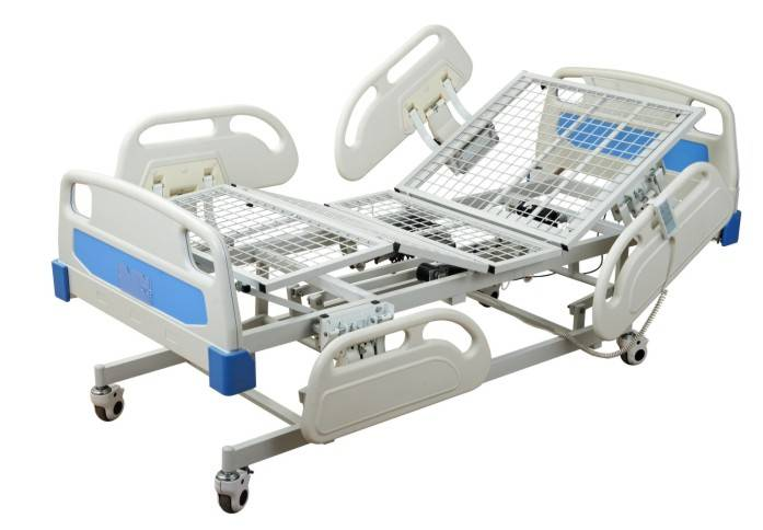 Deluxe Three-function electric ICU mesh bed Care bed Sickbed Medical adjustable net bed