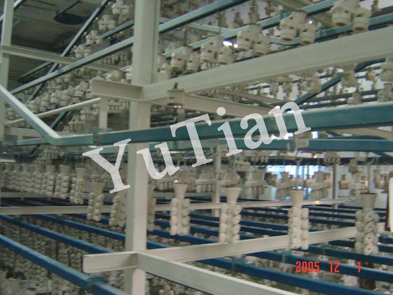 shell conveyor system for investment casting