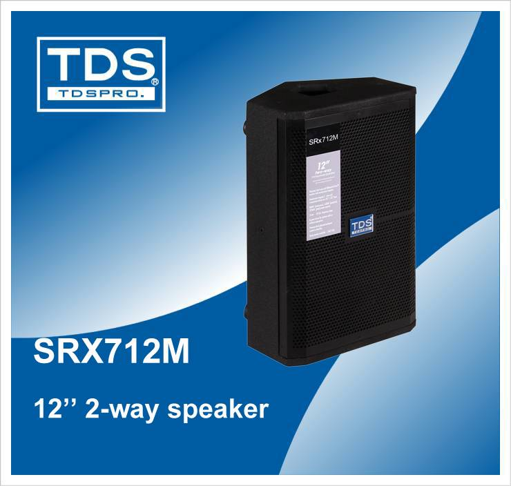 Srx712m, PRO Audio Two Way Full Range Monitor Speaker for Stage, Hall and Show(SRX712M)