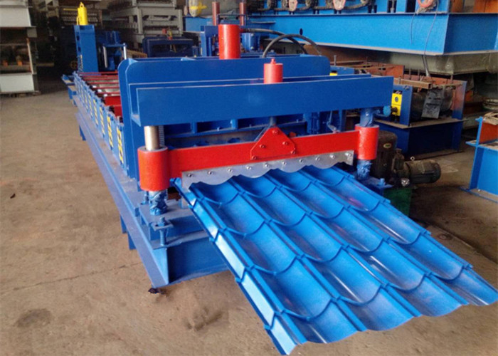 828/1035 Galvanized Tile Roofing Sheet Roll Forming Machine