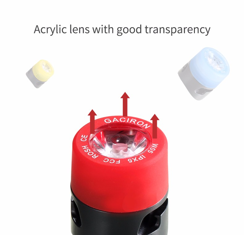 Three modes bike tail light,acrylic lens alert light,bicycle tail light