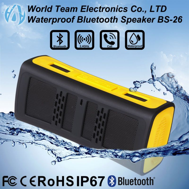 Waterproof and dustproof Bluetooth Speaker
