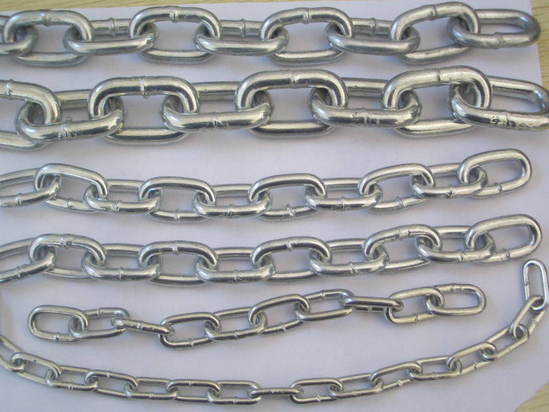 Galvnized long and short link chain