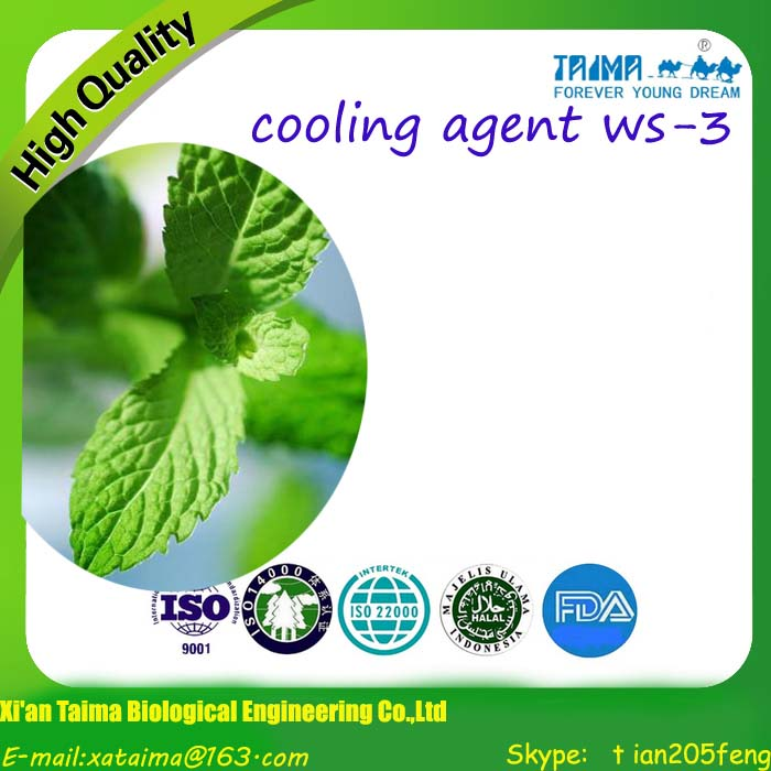 Best Selling Cooling Agent WS-12, White Crystal Powder; TAIMA Cooling Agent WS-3, WS-5, WS-12, WS-23