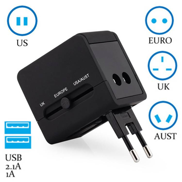 2016 Hot Accessories Worldwide universal travel charger adapter Portable USB wall charger