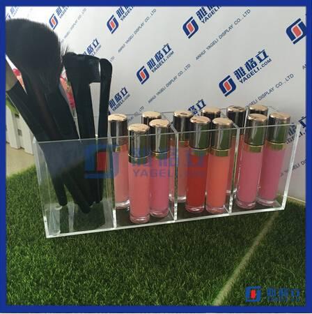 Acrylic makeup brush cases