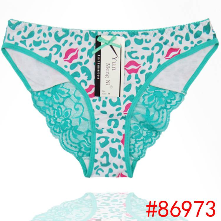 2015 New laced hipster cotton panties sexy leopard lady brief Underpants women underwear girl knicke