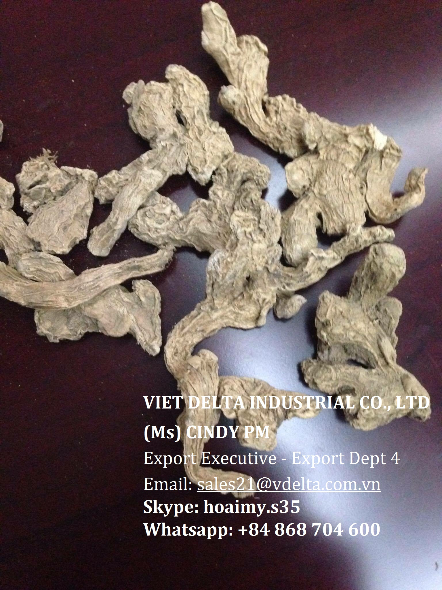 Block dried ginger from Viet Nam Ms Cindy , Whatsapp: +84 868 704 600
