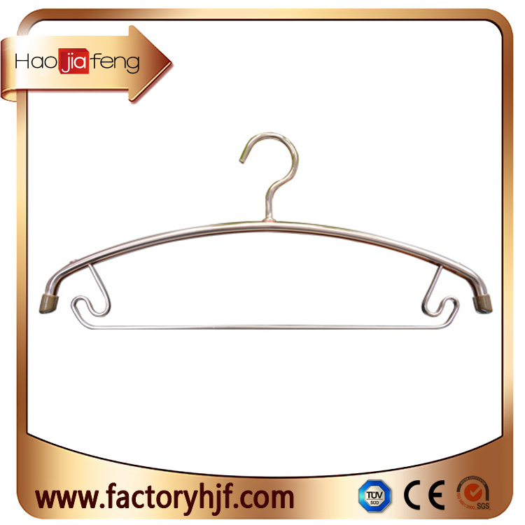 HJF-YC Chinese factory wholesale Environmental aluminum clothes hangers for garment and closet