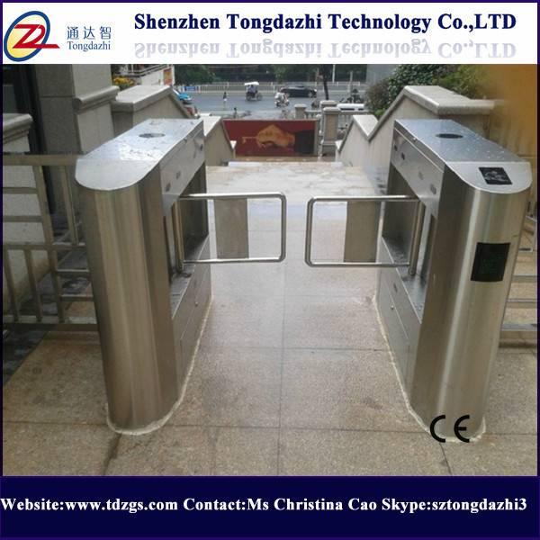 Outdoor used swing barrier with rfid access card