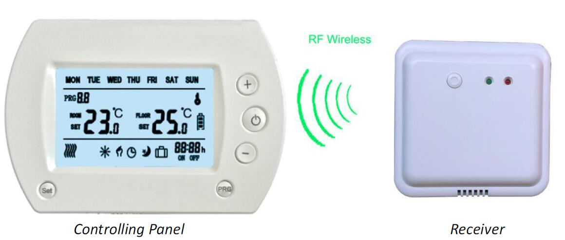 Weekly Programmable Wireless LCD Room Thermostat