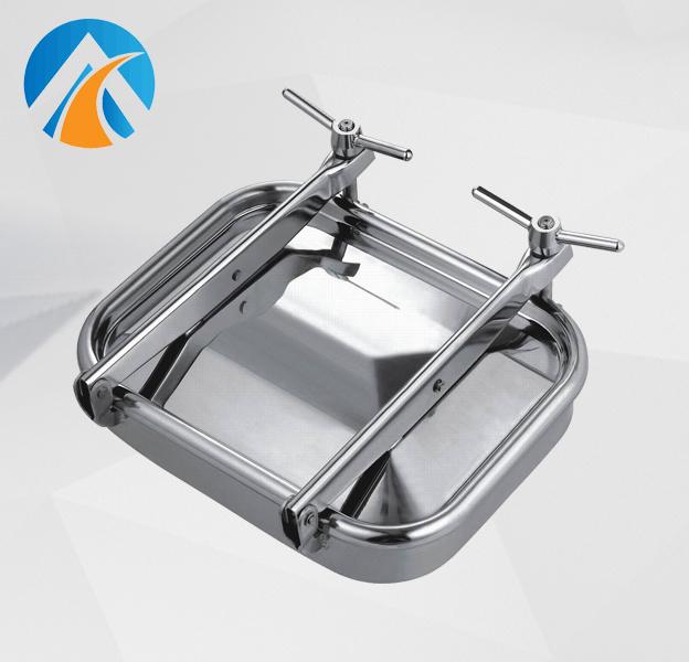 Sanitary stainless steel square manhole