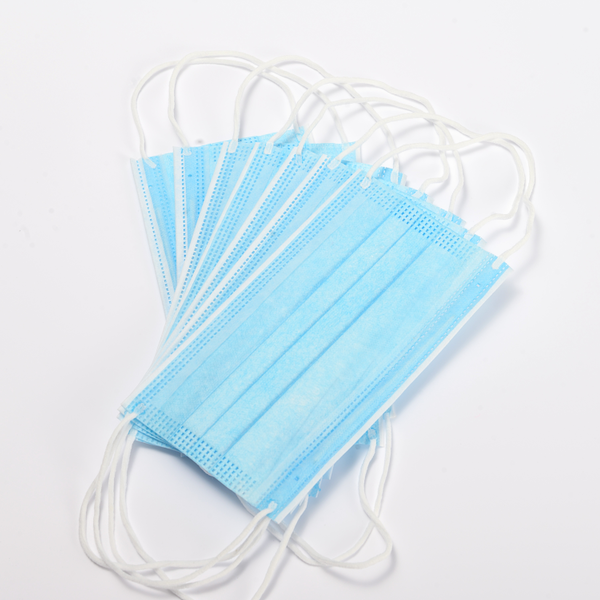 Disposable protective 3 ply face mask non woven fabric with earloop in stock ready for shipment