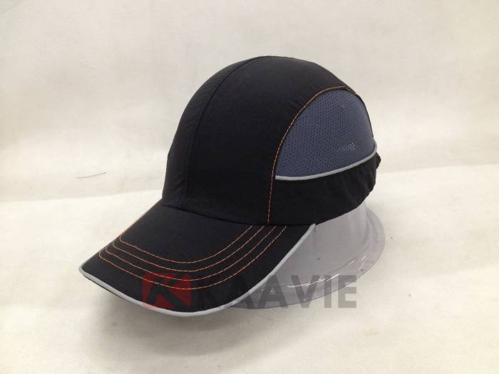 sport black vent baseball style bump cap with CE EN812 certification