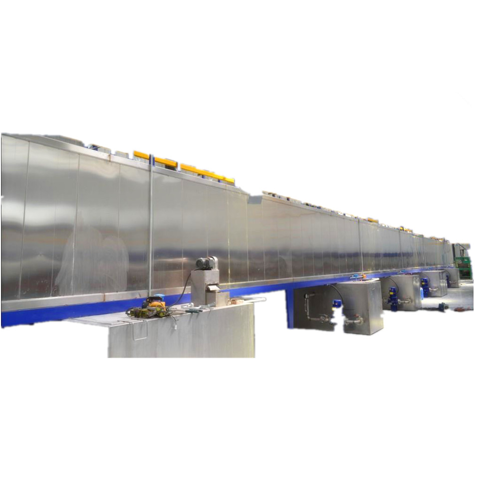 pretreatment system in powder coating line