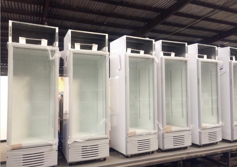 JINZHOU High Quality Vertical Showcase freezer 198L Display Vertical Cooler