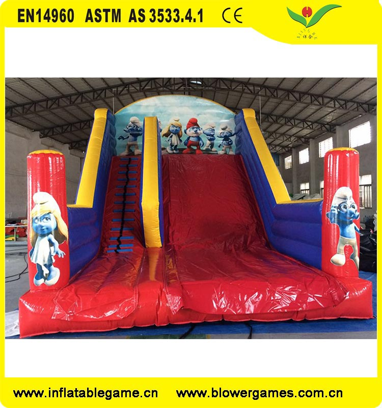 Kids game toy outdoor playground inflatable slide