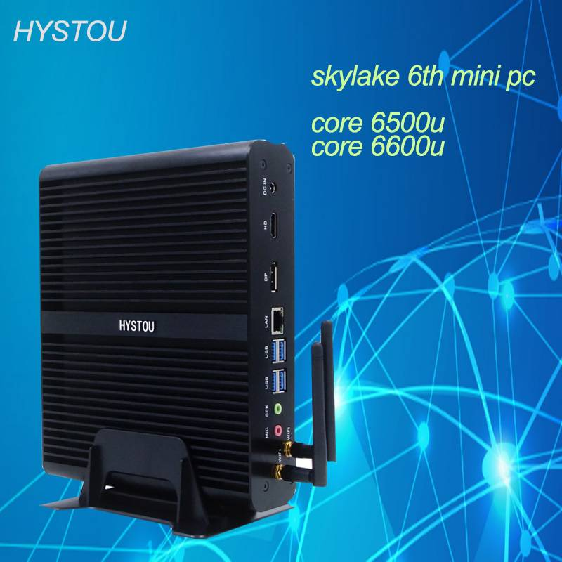 Skylake 6th generation mini pc 6500u Windows10 Intel core i7 6600u mini pc barebone gaming computer