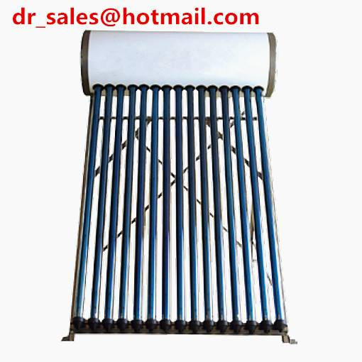 Solar Water Heater with Copper Coil & 1.5mm Galvanized Steel Frame, No Pump Required, Manufacturer